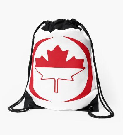 Indonesian Canadian Multinational Patriot Flag Series Drawstring Bag