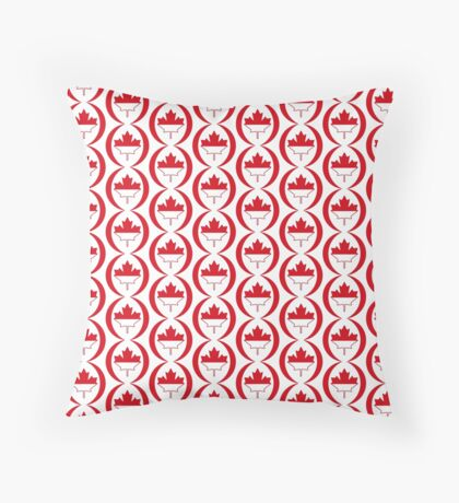 Indonesian Canadian Multinational Patriot Flag Series Floor Pillow