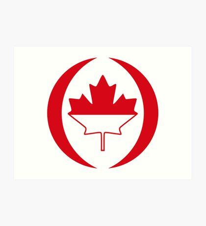 Indonesian Canadian Multinational Patriot Flag Series Art Print