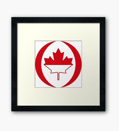 Indonesian Canadian Multinational Patriot Flag Series Framed Print