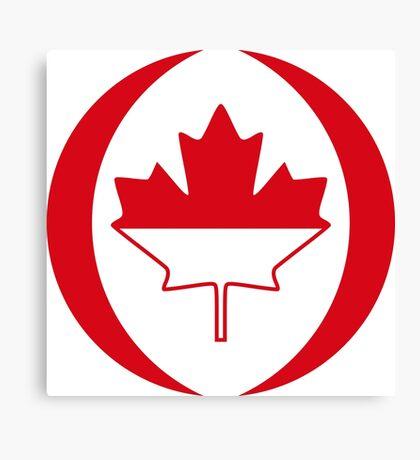 Indonesian Canadian Multinational Patriot Flag Series Canvas Print