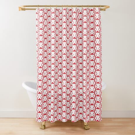 Indonesian Canadian Multinational Patriot Flag Series Shower Curtain