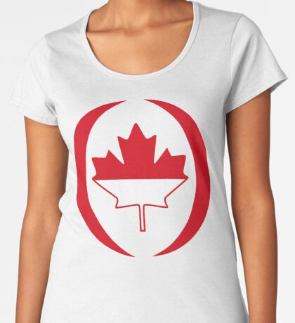 Indonesian Canadian Multinational Patriot Flag Series Premium Scoop T-Shirt
