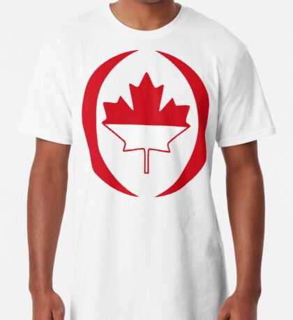 Indonesian Canadian Multinational Patriot Flag Series Long T-Shirt