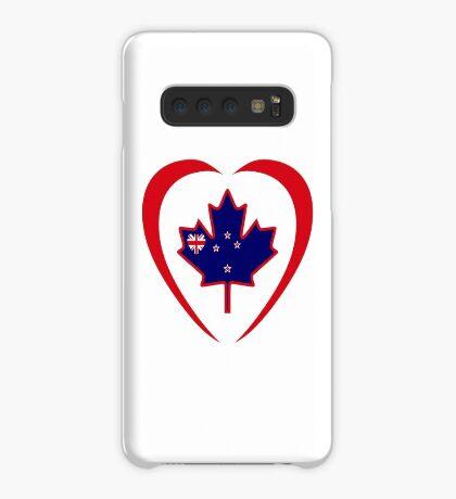 Kiwi Canadian Multinational Patriot Flag Series (Heart) Case/Skin for Samsung Galaxy