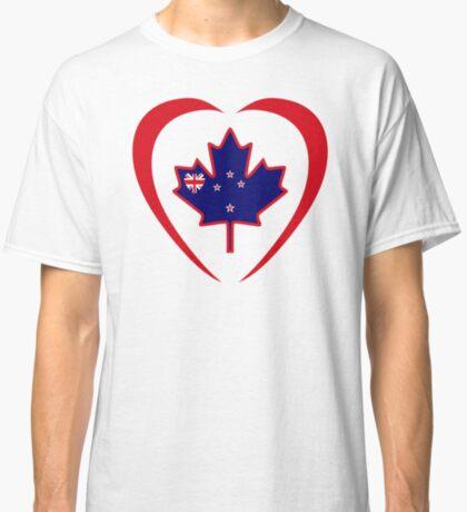 Kiwi Canadian Multinational Patriot Flag Series (Heart) Classic T-Shirt