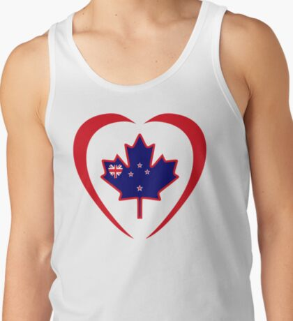 Kiwi Canadian Multinational Patriot Flag Series (Heart) T-Shirt