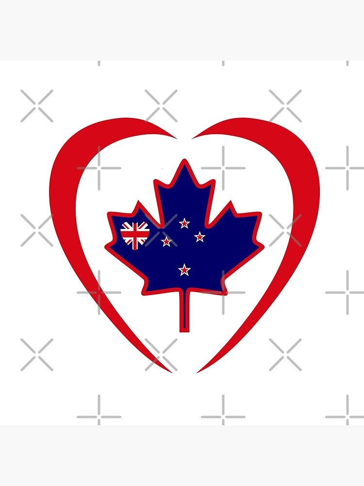 Kiwi Canadian Multinational Patriot Flag Series (Heart) by carbonfibreme