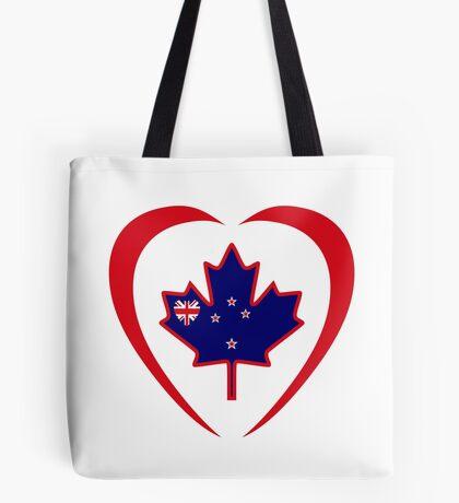 Kiwi Canadian Multinational Patriot Flag Series (Heart) Tote Bag