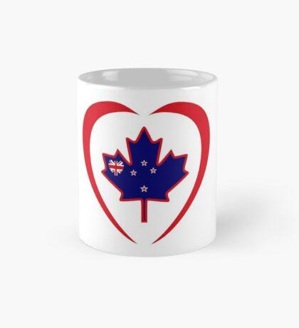 Kiwi Canadian Multinational Patriot Flag Series (Heart) Mug