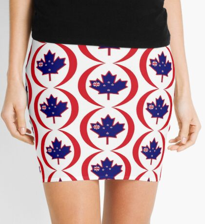 Kiwi Canadian Multinational Patriot Flag Series Mini Skirt