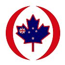 Kiwi Canadian Multinational Patriot Flag Series by Carbon-Fibre Media