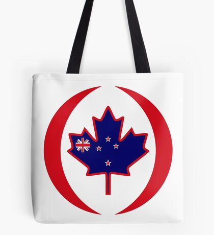 Kiwi Canadian Multinational Patriot Flag Series Tote Bag