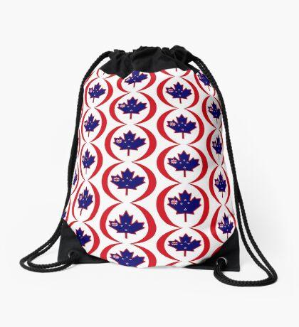 Kiwi Canadian Multinational Patriot Flag Series Drawstring Bag
