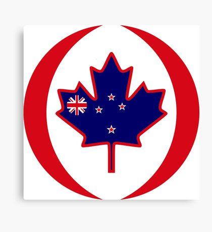 Kiwi Canadian Multinational Patriot Flag Series Canvas Print