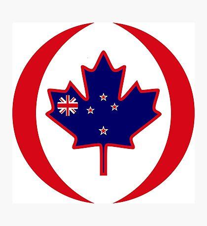 Kiwi Canadian Multinational Patriot Flag Series Photographic Print
