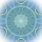 AQUA-batics  greeny-blue geometric abstract pattern - jenny meehan by JennyMeehan