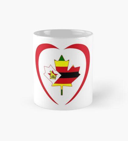 Zimbabwean Canadian Multinational Patriot Flag Series (Heart) Mug