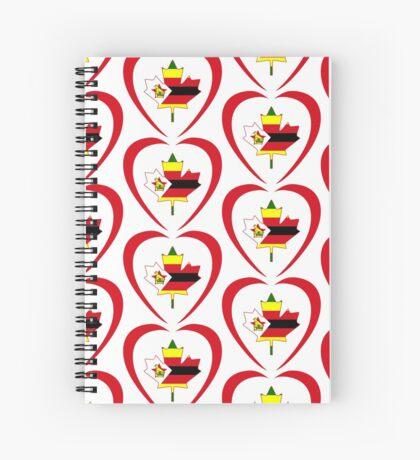 Zimbabwean Canadian Multinational Patriot Flag Series (Heart) Spiral Notebook