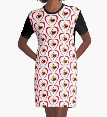 Zimbabwean Canadian Multinational Patriot Flag Series (Heart) Graphic T-Shirt Dress