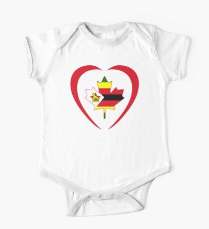 Zimbabwean Canadian Multinational Patriot Flag Series (Heart) Kids Clothes