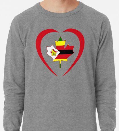 Zimbabwean Canadian Multinational Patriot Flag Series (Heart) Lightweight Sweatshirt