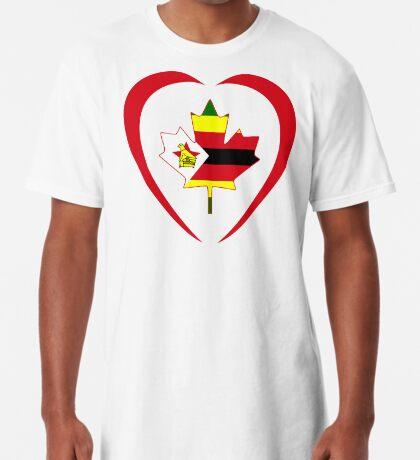 Zimbabwean Canadian Multinational Patriot Flag Series (Heart) Long T-Shirt