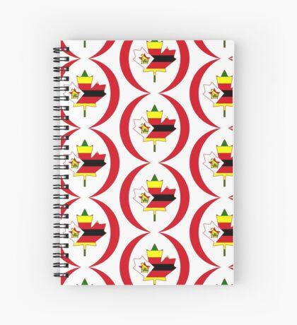 Zimbabwean Canadian Multinational Patriot Flag Series Spiral Notebook