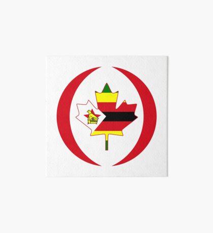Zimbabwean Canadian Multinational Patriot Flag Series Art Board Print
