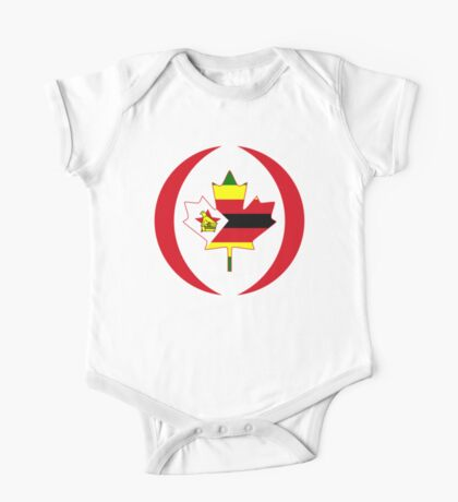 Zimbabwean Canadian Multinational Patriot Flag Series Kids Clothes