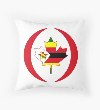 Zimbabwean Canadian Multinational Patriot Flag Series Throw Pillow