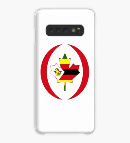 Zimbabwean Canadian Multinational Patriot Flag Series Case/Skin for Samsung Galaxy
