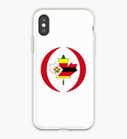 Zimbabwean Canadian Multinational Patriot Flag Series iPhone Case