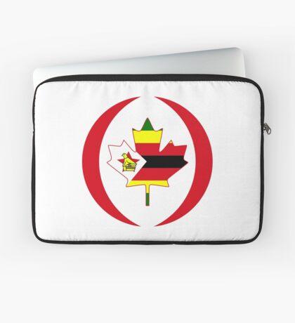 Zimbabwean Canadian Multinational Patriot Flag Series Laptop Sleeve