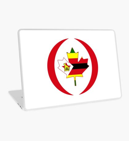 Zimbabwean Canadian Multinational Patriot Flag Series Laptop Skin