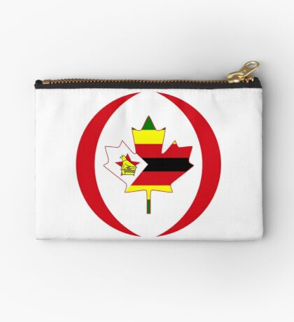 Zimbabwean Canadian Multinational Patriot Flag Series Zipper Pouch