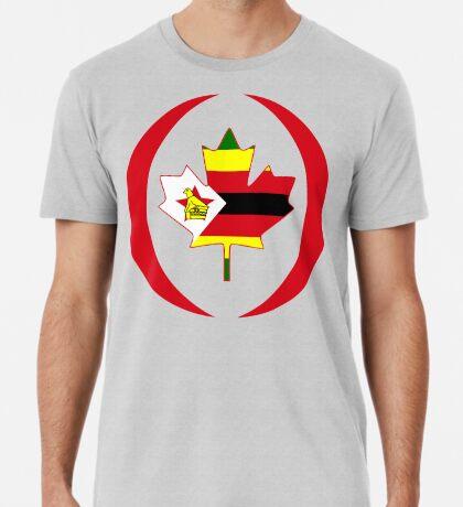 Zimbabwean Canadian Multinational Patriot Flag Series Premium T-Shirt