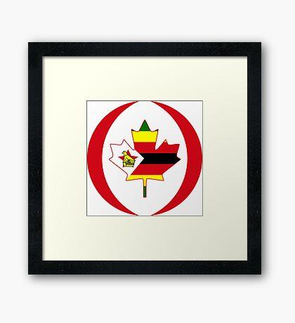 Zimbabwean Canadian Multinational Patriot Flag Series Framed Print