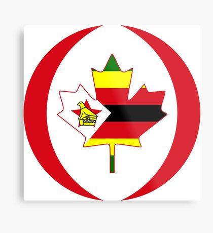 Zimbabwean Canadian Multinational Patriot Flag Series Metal Print