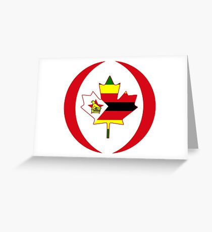 Zimbabwean Canadian Multinational Patriot Flag Series Greeting Card