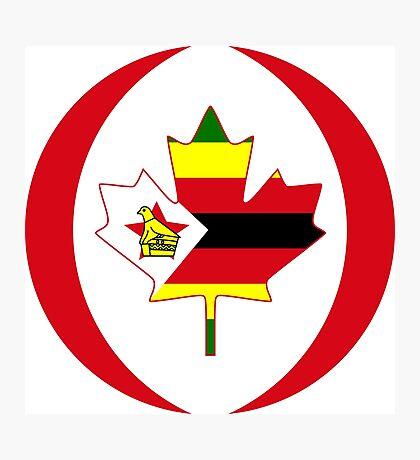 Zimbabwean Canadian Multinational Patriot Flag Series Photographic Print