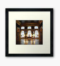 Entertaining room- Catherine's Palace Framed Print