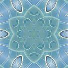 AQUA-batics variation 1 Greeny-blue geometric abstract pattern - jenny meehan by JennyMeehan