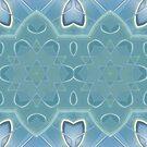 AQUA-batics variation 2 Greeny-blue geometric abstract pattern - jenny meehan by JennyMeehan
