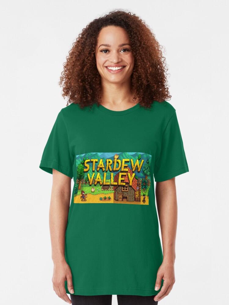 Vista alternativa de Camiseta ajustada Introducción a Stardew Valley