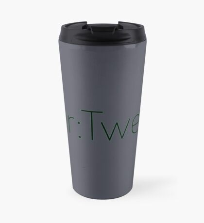 Four:Twenty 4:20 - Black with Green Travel Mug