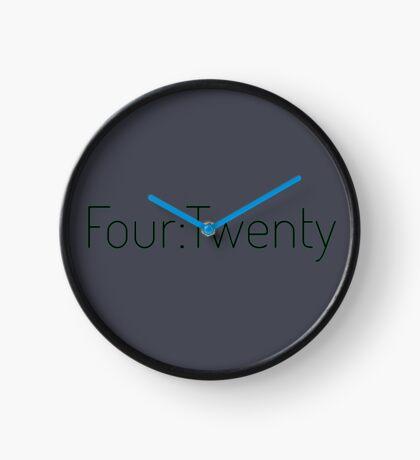 Four:Twenty 4:20 - Black with Green Clock