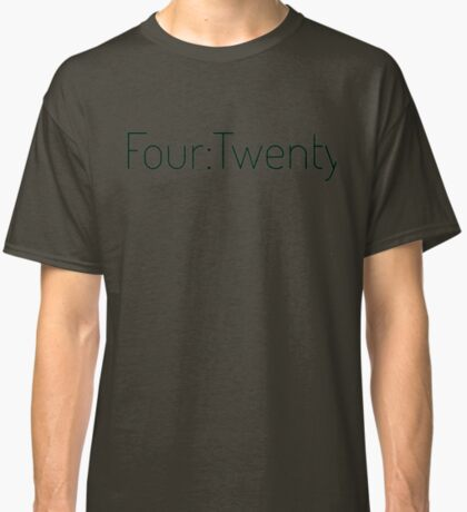 Four:Twenty 4:20 - Black with Green Classic T-Shirt