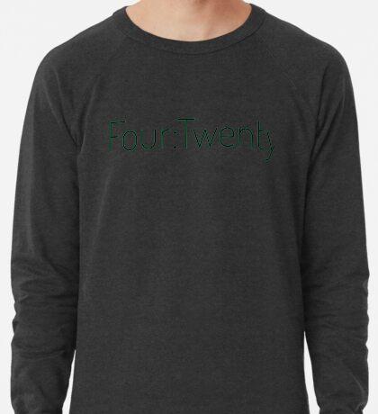 Four:Twenty 4:20 - Black with Green Lightweight Sweatshirt