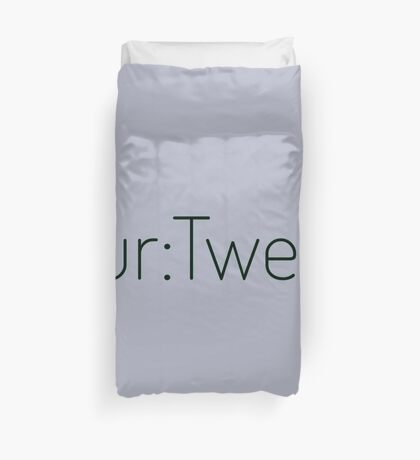 Four:Twenty 4:20 - Black with Green Duvet Cover